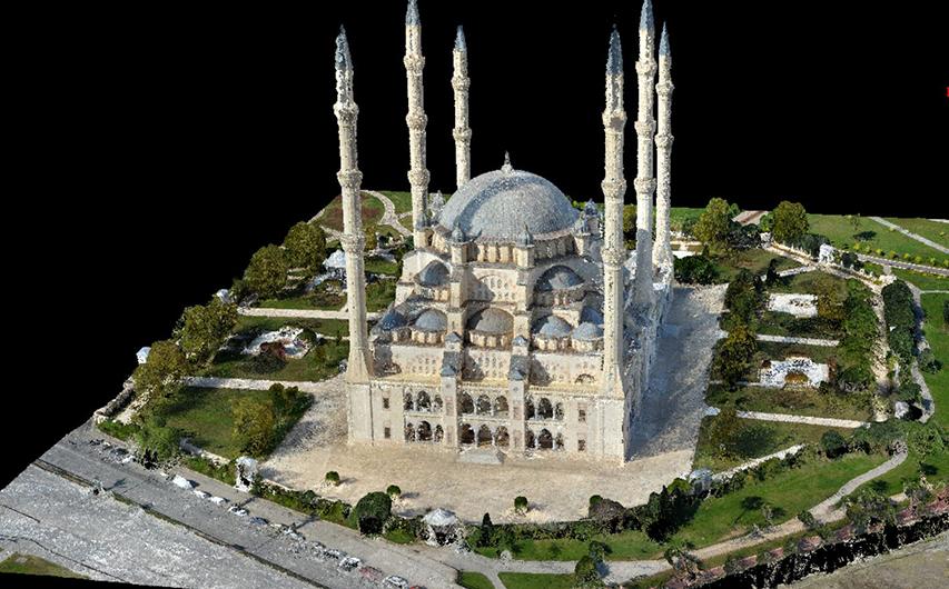 UAV Creates 3D Model of Largest Mosque in Turkey